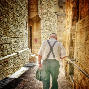 Jewish man in the Old City of Jerusalem